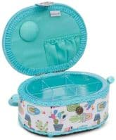 HobbyGift Classic Small Oval Sewing Box Cactus Party,HGSO\459